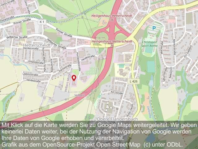 Karte mit Verweis zur Google-Navigation